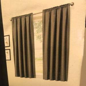 Gray blackout curtains (3panels)